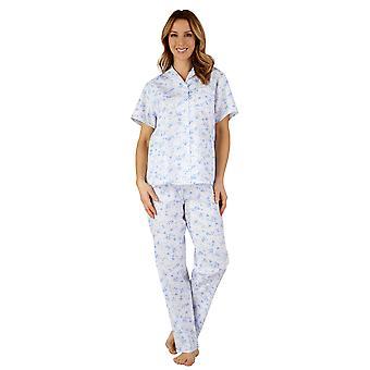 Slenderella PJ3208 ženy ' s bavlna tkaná pyžama sada