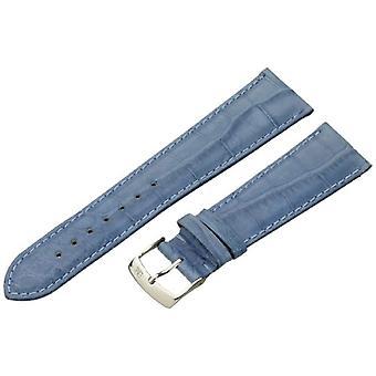 Morellato zwart lederen band 22 mm blauw AMADEUS A01U0518339266CR22 man