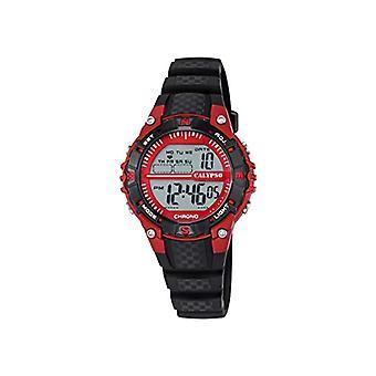 Calypso-Unisex reloj digital con pantalla LCD y fleje plástico, color: negro, 6 K5684