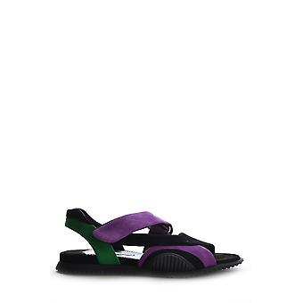 Prada Ezbc021007 Women's Black Suede Sandals