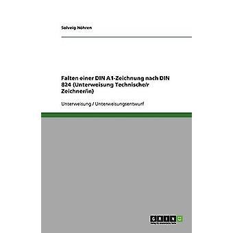 Falten einer buller A1Zeichnung nach DIN 824 Unterweisung Technischer Zeichnerin av Nhren & Solveig