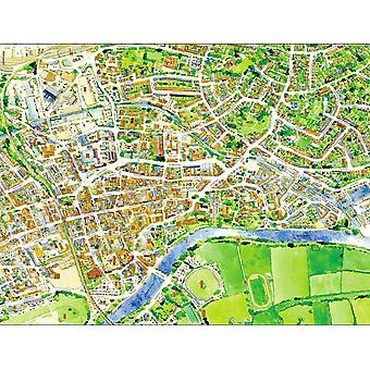 Cityscapes Street Map Of Worcester 400 Piece Jigsaw Puzzle 470mm x 320mm (hpy)