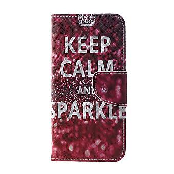 Samsung Galaxy S10 - portefeuille Case-Quote Keep Calm and Sparkle
