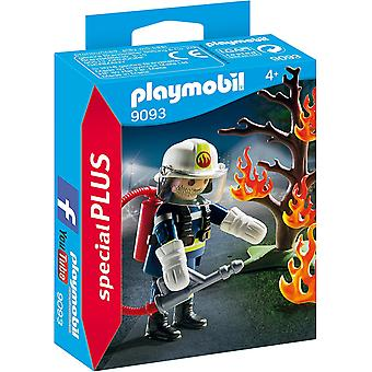 Playmobil 9093 Special Plus Firefighter With Tree Toy Set