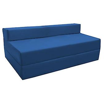Water Resistant Fold Out Double Z Bed Sofa - Blue