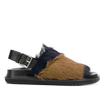 Marni Fbms001001lv796 Naiset's Musta Turkis sandaalit