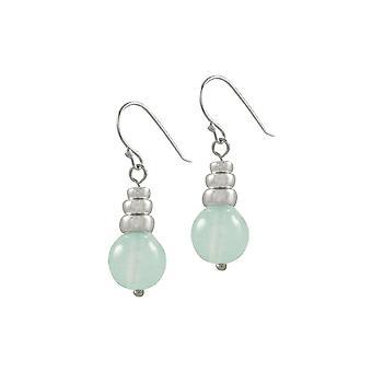 Wieczne kolekcji Candy Baby niebieski agat koralikami srebrne Drop kolczyki Kolczyki