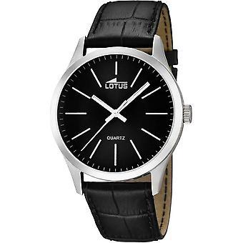 Lotus 15961-3 watch - klocka läder svart man