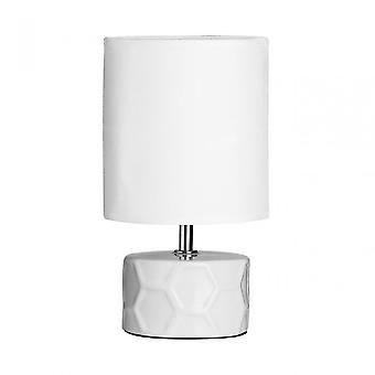 Premier Home Honeycomb Table Lamp, Ceramic, White