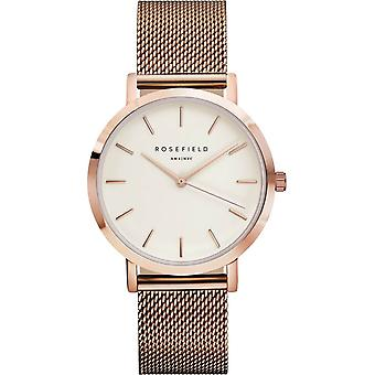 Rosefield mercer Quartz Analog Women's Watch with MWR-M42 Gold Plated Stainless Steel Bracelet