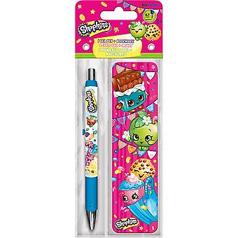 Gel Pen - Shopkins - w/Bookmark Packs Toys Gifts Stationery New iw3572