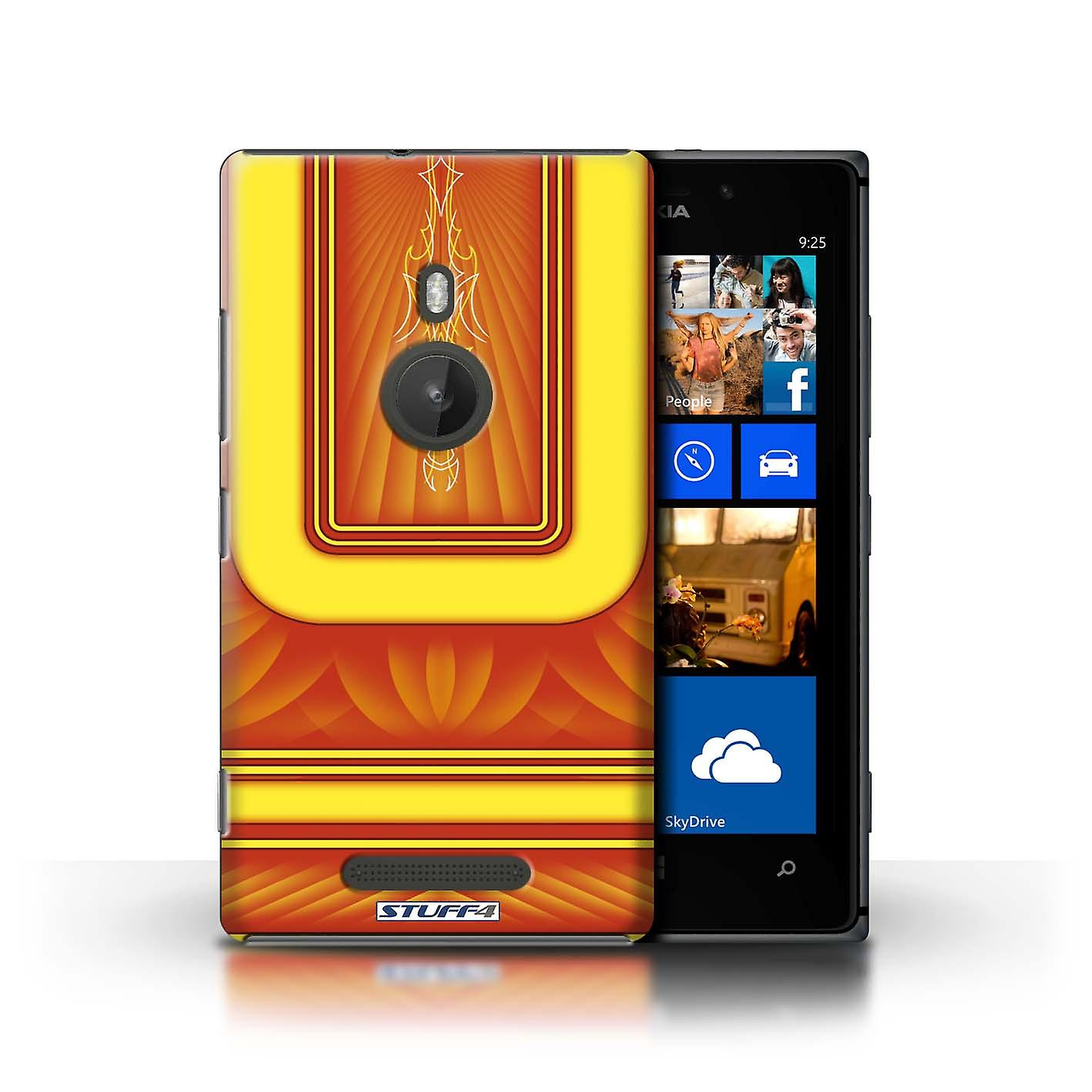 STUFF4 Case/Cover for Nokia Lumia 925/Orange/Yellow/Custom Paint Job