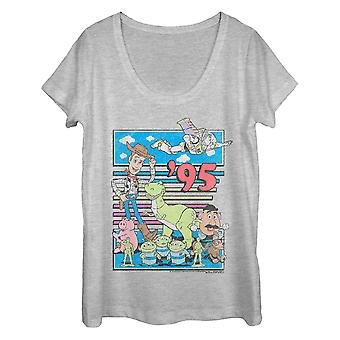 Toy Story '95 donna grigio Scoop Neck Tee Shirt