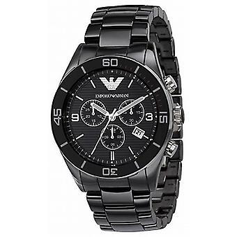 Armani Ar1421 - Black Ceramica Chronograph Mens Watch