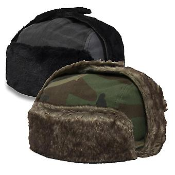 New Era Wintermütze Kunstpelz Trapper camo
