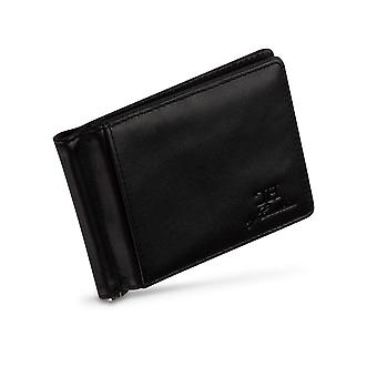 Full RFID Blocking | Wallet with Money Clip | Black Leather