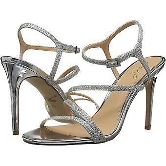 Jewel Badgley Mischka Women's Maddison Sandal, silver, Silver Glitter, Size 11.0