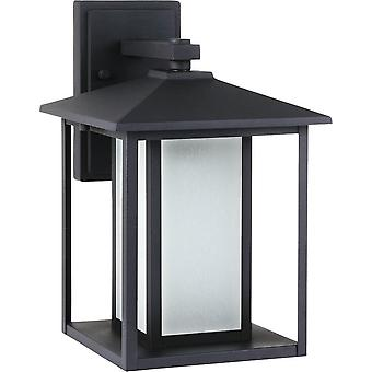 Sea Gull Lighting Black Hunnington 1-Light Outdoor Lantern Wall Sconce Black