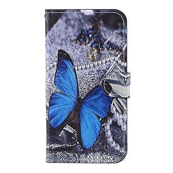 iPhone 11 Pro Plånboksfodral - Blue Butterfly