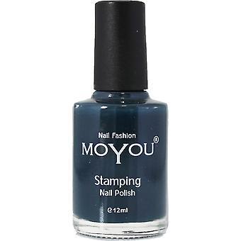 MoYou Stamping Nail Art - Special Nail Polish - Midnight Blue 12ml