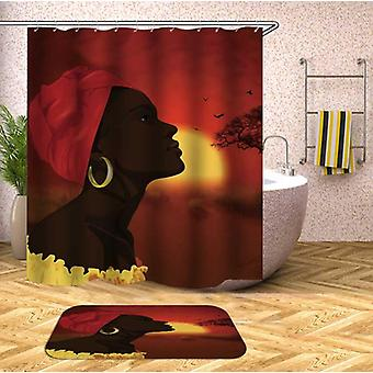 African Woman Over The African Horizon Shower Curtain