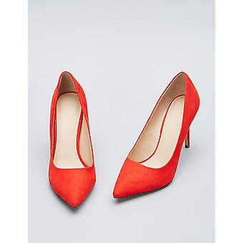 Amazon Brand - find. Women's Mary Jane Pump Red), US 6.5