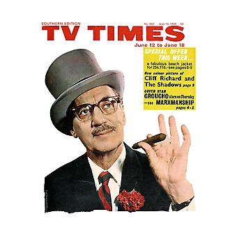 TV Times Groucho Marx 1965 Cover Key Ring