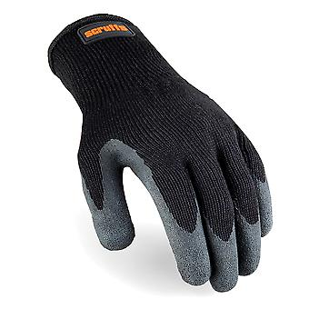Utility latex-gecoate handschoenen zwart-L