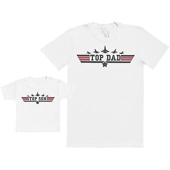 Top Son & Top Dad - Baby Gift Set with Baby T-Shirt & Father's T-Shirt
