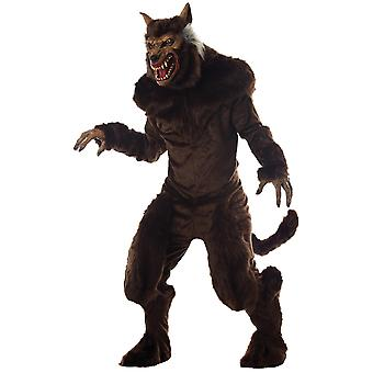 Werewolf Deluxe Wolfman Full Moon Monster Wolf Horror Adult Mens Costume L