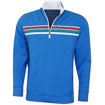 Bobby Jones Mens Liquid Cotton Tribute Chest Stripe Golf Sweater