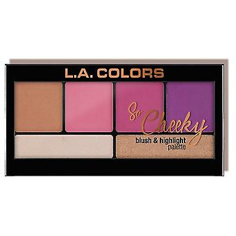 L.A. Colors So Cheeky palette blusher and highlighter Sweet and Sassy