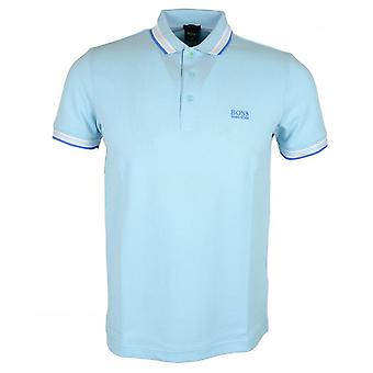 Hugo Boss Paddy Regular Fit Pique Sky Blue Polo