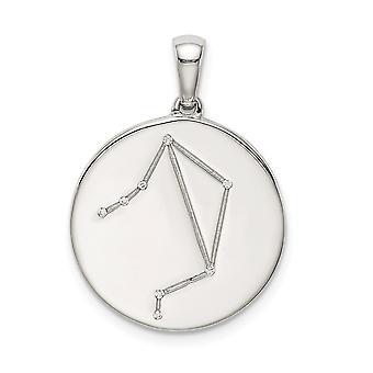 925 plata de ley y CZ Zirconia cúbica simulada diamante Libra Zodiac colgante collar colgante regalos de joyería para las mujeres
