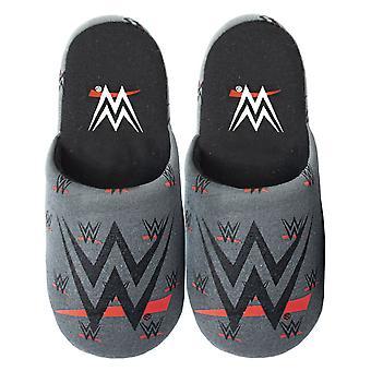 WWE Men's Grey Polyester Slip-On House Slippers