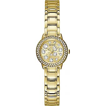 Montre Guess Montres GW0028L2 - Bo�tier acier dor� avec cristaux Cadran dor� avec cristaux Bracelet acier dor�