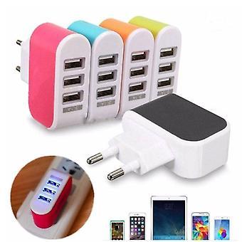 スタッフ認定® 3パックトリプル(3x)USBポートiPhone / AndroidウォールチャージャーACホームウォール充電器