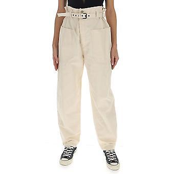 Isabel Marant ÉToile Pa151220p007e23ec Women's White Cotton Pants