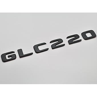 Matt schwarz GLC220 flach Mercedes Benz Auto Modell Nummern Buchstaben Abzeichen Emblem für GLC Klasse X253/C253 AMG
