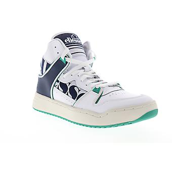 Ellesse Assist HI  Mens White Leather High Top Lifestyle Sneakers Shoes