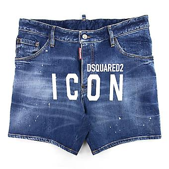 Dsquared2 Dan Commando Denim Shorts Bleu