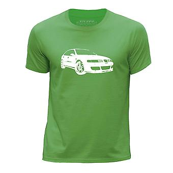 STUFF4 Boy's Round Neck T-Shirt/Stencil Car Art / Leon Cupra/Green