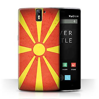 STUFF4 Case/Cover for OnePlus One/Macedonia/Macedonian/European Flag