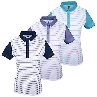 Island Green Womens 2020 IGLTS1961 Contrast Sleeve Polo Shirt
