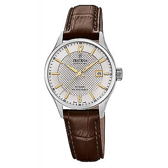 Festina Swiss F20009-2 Swiss Made Women's Brown Strap Wristwatch