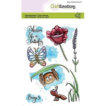 CraftEmotions Clear Stamps A6 - Bugs 3 Carla Creaties