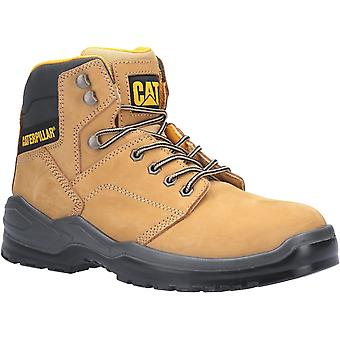 Caterpillar Mens Striver Lace Up Injected Safety Boot Honey