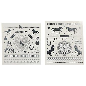hester drømmer metallisk tatoveringer tatueringar hästar