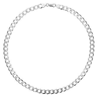 TOC sterling zilver Gents 28 gram open plat 18 inch Curb Necklace