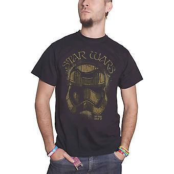 حرب النجوم الرجال تي قميص العاصفة السوداء جندي في جولة منذ 77 الرسمية